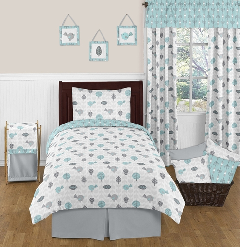 Earth and Sky 3pc Full / Queen Bedding Set by Sweet Jojo Designs - Click to enlarge