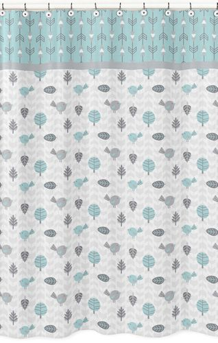 Earth and Sky Kids Bathroom Fabric Bath Shower Curtain by Sweet Jojo Designs - Click to enlarge