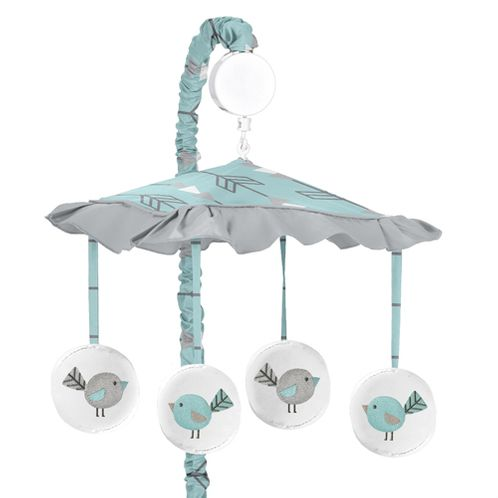 Earth and Sky Musical Baby Crib Mobile by Sweet Jojo Designs - Click to enlarge