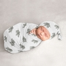 Elephant Safari Boy or Girl Cocoon and Beanie Hat Set Jersey Stretch Knit Sleeping Bag for Infant Newborn Nursery Sleep Wrap Sack by Sweet Jojo Designs - Gray and White Watercolor Grey Gender Neutral