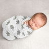 Elephant Safari Boy or Girl Swaddle Blanket Jersey Stretch Knit for Newborn or Infant Receiving Security by Sweet Jojo Designs - Gray and White Watercolor Grey Gender Neutral