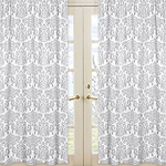 Elizabeth Damask Window Treatment Panels by Sweet Jojo Designs - Set of 2