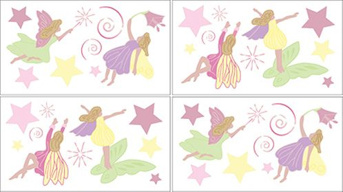 Fairy Tale Fairies Baby and Kids Wall Decal Stickers - Set of 4 Sheets - Click to enlarge
