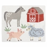 Farm Animals Accent Floor Rug or Bath Mat by Sweet Jojo Designs - Farmhouse Barn Horse Sheep Pig Barnyard