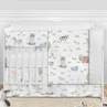 Farm Animals Baby Boy or Girl Nursery Crib Bedding Set without Bumper by Sweet Jojo Designs - 5 pieces - Watercolor Farmhouse Lattice Horse Cow Sheep Pig