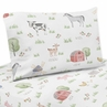 Farm Animals Queen Sheet Set by Sweet Jojo Designs - 4 piece set - Watercolor Farmhouse Horse Cow Sheep Pig