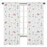 Farm Animals Window Treatment Panels Curtains by Sweet Jojo Designs - Set of 2 - Watercolor Farmhouse Horse Cow Sheep Pig