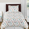Feather 4pc Girl Twin Bedding Set by Sweet Jojo Designs