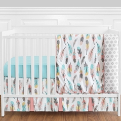 Feather Baby Bedding - 11pc Girls Crib Set by Sweet Jojo Designs