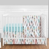 Feather Baby Bedding - 4pc Girls Crib Set by Sweet Jojo Designs
