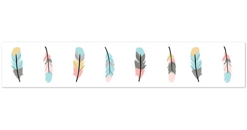 Feather Collection Kids and Baby Modern Wall Paper Border by Sweet Jojo Designs - Click to enlarge