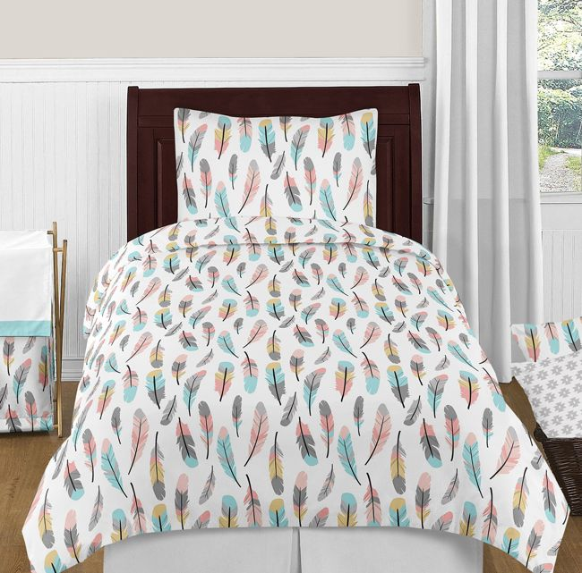 Feather Collection Full Length Double Zippered Body Pillow Case Cover