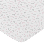 Fitted Crib Sheet for Alexa Baby/Toddler Bedding by Sweet Jojo Designs - Butterfly Print