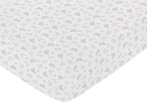 Fitted Crib Sheet for Alexa Baby/Toddler Bedding by Sweet Jojo Designs - Butterfly Print - Click to enlarge