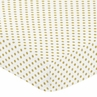 Fitted Crib Sheet for Amelia Baby/Toddler Bedding by Sweet Jojo Designs - Gold and White Polka Dot