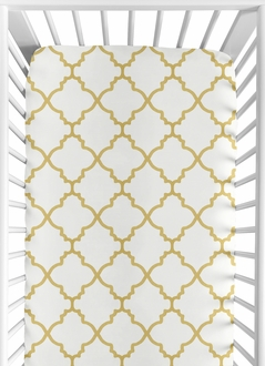 Fitted Crib Sheet for Ava Baby/Toddler Bedding by Sweet Jojo Designs - Trellis Print