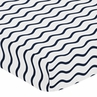 Fitted Crib Sheet for Blue Whale Baby/Toddler Bedding by Sweet Jojo Designs - Chevron Wave Print