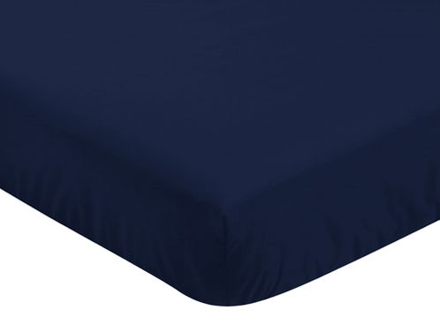 Fitted Crib Sheet for Blue Whale Baby/Toddler Bedding by Sweet Jojo Designs - Navy - Click to enlarge