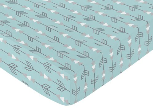 Fitted Crib Sheet for Earth and Sky Baby/Toddler Bedding by Sweet Jojo Designs - Arrows Print - Click to enlarge