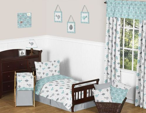 Earth and Sky Toddler Bedding - 5pc Set by Sweet Jojo Designs - Click to enlarge