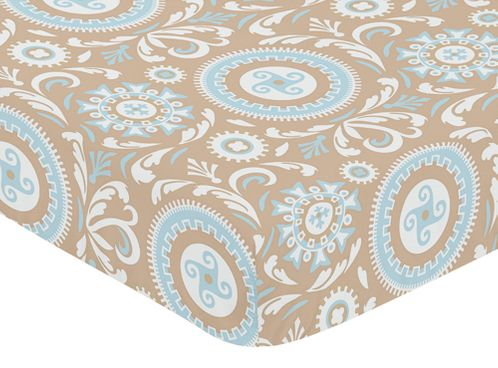 Fitted Crib Sheet for Hayden Baby/Toddler Bedding by Sweet Jojo Designs - Medallion Print - Click to enlarge