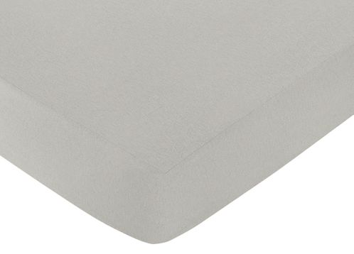 Fitted Crib Sheet for Honey Bee Baby/Toddler Bedding by Sweet Jojo Designs - Gray - Click to enlarge