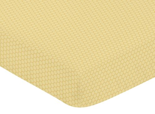 Fitted Crib Sheet for Honey Bee Baby/Toddler Bedding by Sweet Jojo Designs - Honeycomb Print - Click to enlarge