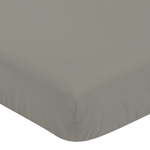 Fitted Crib Sheet for Mod Elephant Baby/Toddler Bedding by Sweet Jojo Designs - Gray