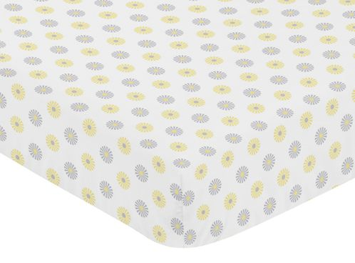 Fitted Crib Sheet for Mod Garden Baby/Toddler Bedding by Sweet Jojo Designs - Floral Print - Click to enlarge
