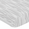 Fitted Crib Sheet for Navy and White Woodland Deer Baby/Toddler Bedding by Sweet Jojo Designs - Wood Grain Print