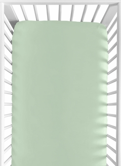 Fitted Crib Sheet for Navy, Mint and Grey Woodsy Baby/Toddler Bedding by Sweet Jojo Designs - Solid Mint