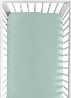 Fitted Crib Sheet for Outdoor Adventure Baby/Toddler Bedding by Sweet Jojo Designs - Aqua Blue