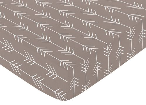 Fitted Crib Sheet for Outdoor Adventure Baby/Toddler Bedding by Sweet Jojo Designs - Arrow Print - Click to enlarge