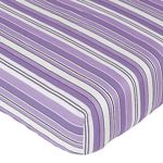 Fitted Crib Sheet for Purple and Black Kaylee Baby/Toddler Bedding by Sweet Jojo Designs - Stripe Print