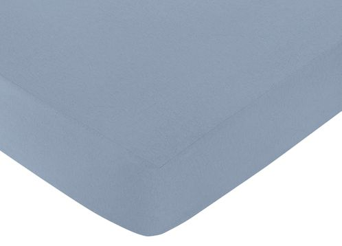 Fitted Crib Sheet for Robot Baby/Toddler Bedding by Sweet Jojo Designs - Light Blue - Click to enlarge