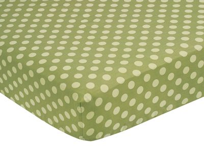 Fitted Crib Sheet for Sea Turtle Baby/Toddler Bedding by Sweet Jojo Designs - Tonal Green Dots - Click to enlarge