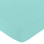 Fitted Crib Sheet for Skylar Baby/Toddler Bedding by Sweet Jojo Designs - Turquoise