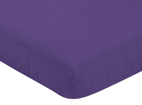 Fitted Crib Sheet for Sloane Baby/Toddler Bedding by Sweet Jojo Designs - Purple - Click to enlarge