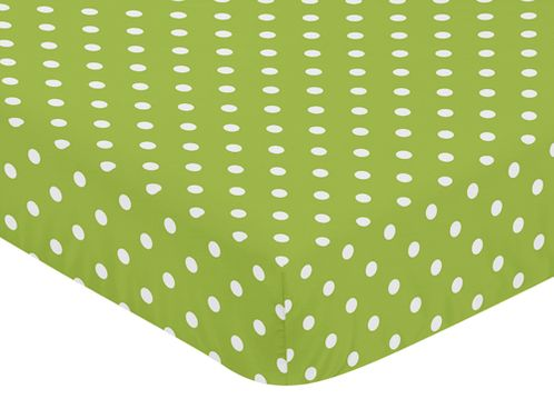 Fitted Crib Sheet for Spirodot Baby/Toddler Bedding by Sweet Jojo Designs - Polka Dot - Click to enlarge