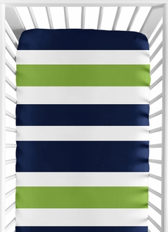 Fitted Crib Sheet for Stripe Baby and Toddler Bedding by Sweet Jojo Designs - Stripe Print