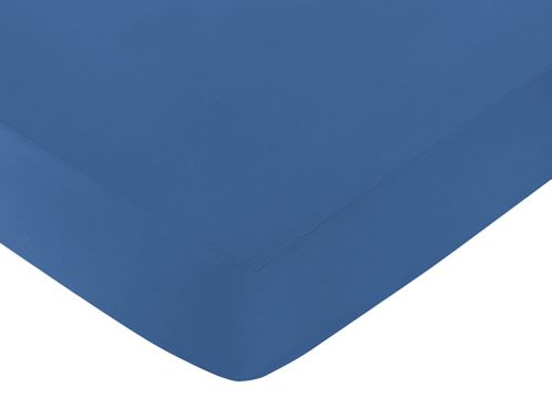 Fitted Crib Sheet for Trellis Baby/Toddler Bedding by Sweet Jojo Designs - Blue - Click to enlarge