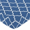 Fitted Crib Sheet for Trellis Baby/Toddler Bedding by Sweet Jojo Designs - Blue and White Print