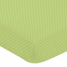 Fitted Crib Sheet for Turquoise and Lime Hooty Owl Baby/Toddler Bedding by Sweet Jojo Designs - Lime Mini Dot