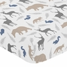 Fitted Crib Sheet for Woodland Animals Baby/Toddler Bedding by Sweet Jojo Designs - Animal Print