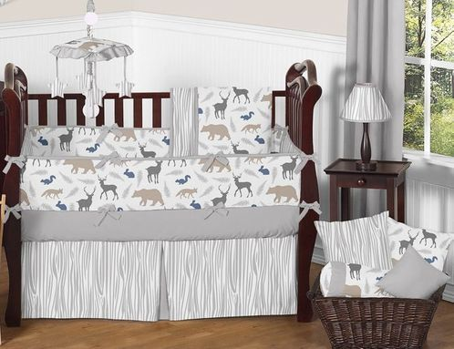Woodland Animals Baby Bedding 9pc Crib Set By Sweet Jojo Designs Click To Enlarge