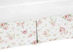 Floral Crib Bed Skirt for Riley's Roses Baby Bedding Sets by Sweet Jojo Designs