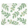Floral Leaf Accent Floor Rug or Bath Mat by Sweet Jojo Designs - Green and White Boho Botanical Woodland Tropical Garden Leaves Nature