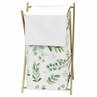 Floral Leaf Baby Kid Clothes Laundry Hamper by Sweet Jojo Designs - Green and White Boho Watercolor Botanical Woodland Tropical Garden