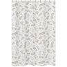 Floral Leaf Bathroom Fabric Bath Shower Curtain by Sweet Jojo Designs - Ivory Cream Beige Taupe and White Gender Neutral Boho Watercolor Botanical Flower Woodland Tropical Garden