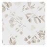 Floral Leaf Fabric Memory Memo Photo Bulletin Board by Sweet Jojo Designs - Ivory Cream Beige Taupe and White Gender Neutral Boho Watercolor Botanical Flower Woodland Tropical Garden